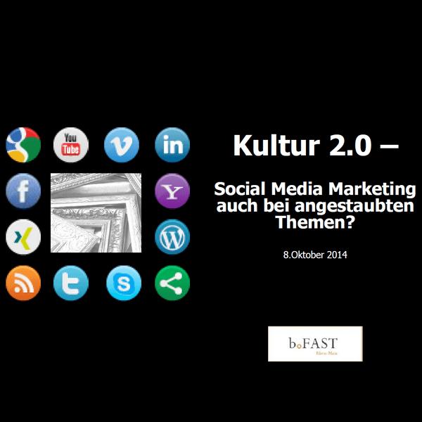 Kultur 2.0 Socia Media für Kulturunternehmen
