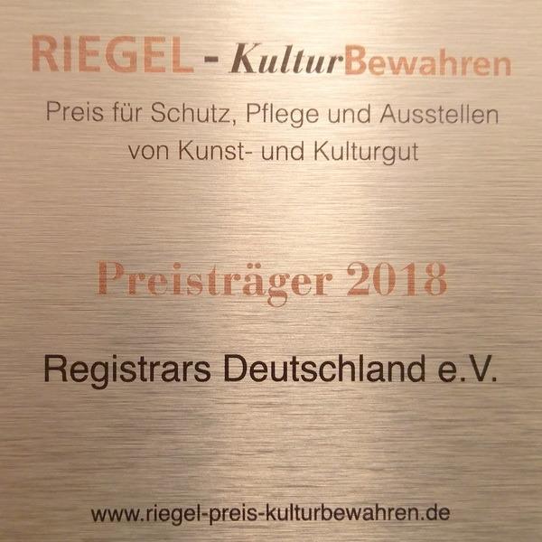 Preisverleihung des Riegel an Registrars Deutschland e.V.