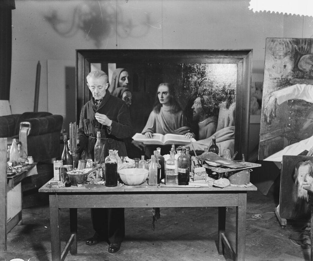 Han van Meegeren malt einen Vermeer: